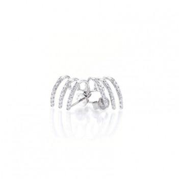 Collar oro blanco perlas y brillantes