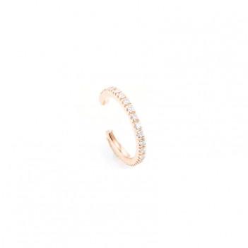 Ear Cuffs Oro Rosa Brillantes