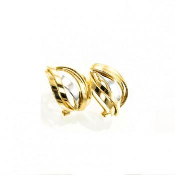 Pendientes Oro Blanco y Oro Amarillo