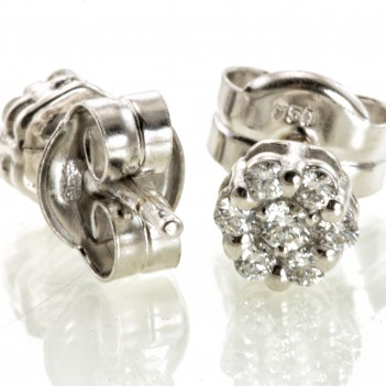 Pendientes de Diamantes Dormilonas