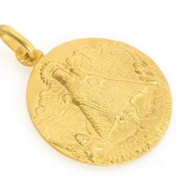 Medalla de Covadonga forma Circular Oro Amarillo