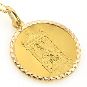 Medalla Virgen de Covadonga en Oro Amarillo Circular