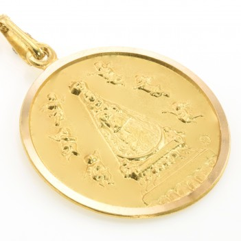 Medalla de Covadonga en Oro Amarillo 18 Kt