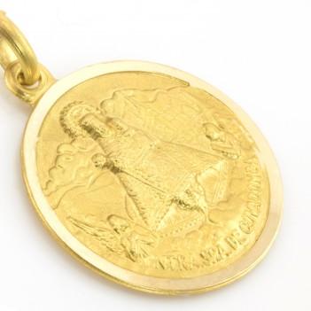 Medalla de la Virgen de Covadonga 18 Kt