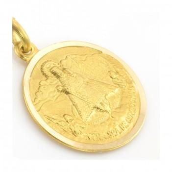 Medalla Virgen de Covadonga en Oro Amarillo de 18 Kt