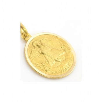 Medalla de la Santina en Oro Amarillo