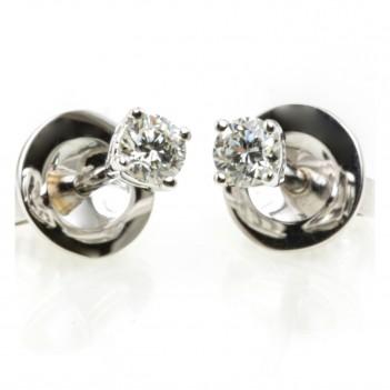 Pendiente Diamante Talla Brillante Cuatro Garras
