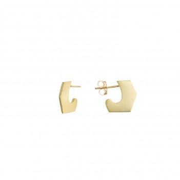 Pendientes irregulares plata dorada