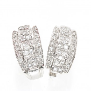 Pendientes Oro Blanco Brillantes 0.67 Quilates