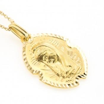 Medalla en oro amarillo Virgen Niña
