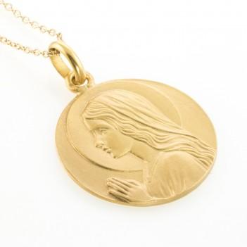 Medalla Virgen Niña oro amarillo