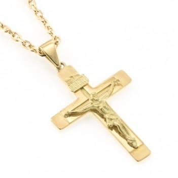 Cruz oro amarillo mate