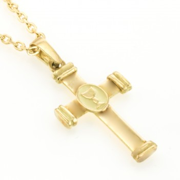 Cruz en oro amarillo con Cáliz