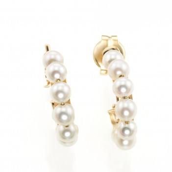 Pendientes oro amarillo perlas cultivadas