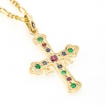 Cruz de la Victoria piedras preciosas