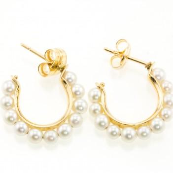 Pendientes con perlas estilo aretes