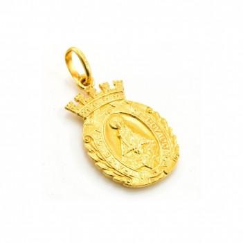 Medalla de Covadonga oro amarillo 5 gramos