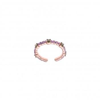 Anillo plata rosa circonitas de color
