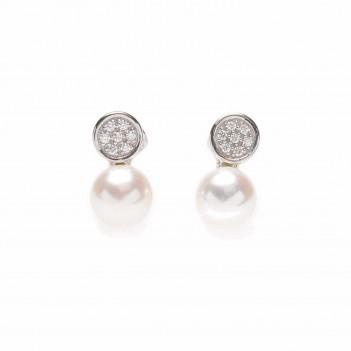 Pendientes plata con perlas