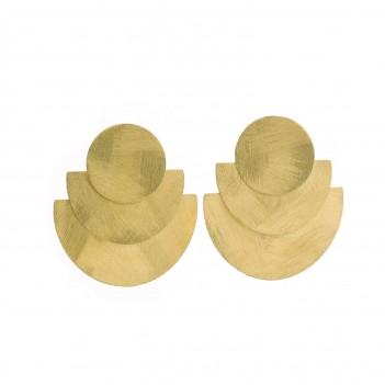 Pendientes dorados en plata