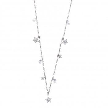 Collar en plata detalles estrellas