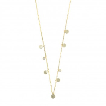 Collar en plata dorada con detalles dorados
