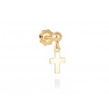 Pendiente piercing cruz