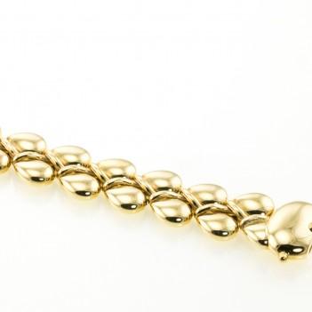 Pulsera oro forma peras