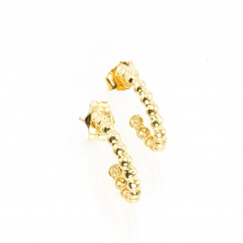 Pendientes Oro Amarillo Semi Aretas