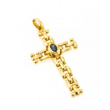 Cruz Oro Amarillo Zafiro