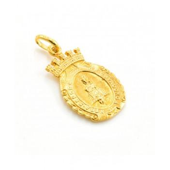 Medalla de la Virgen de Covadonga en Oro Amarillo de 3.40g
