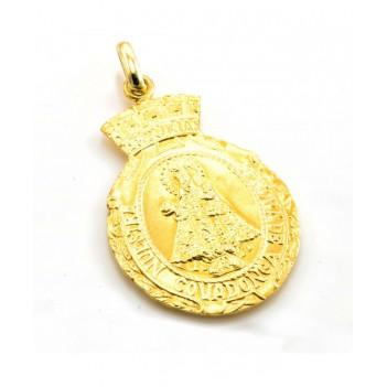 Medalla en Oro Amarillo de la Santina